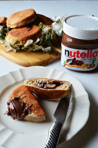 家で「大判焼き」いかがですか~♪ nutellaでお洒落おやつ