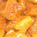 ダッチオーブンで豚バラブロックのチリソース煮