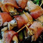 牡蠣にくるりと巻いて☆中華風牡蠣のベーコン巻き♡