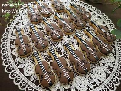 バイオリンのアイシングクッキーできました(#^.^#)