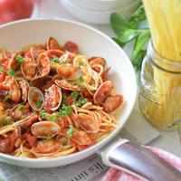 【イタリア料理】ボンゴレロッソ♡GREENPANウッドビーフライパン10%オフ割引クーポン付き!