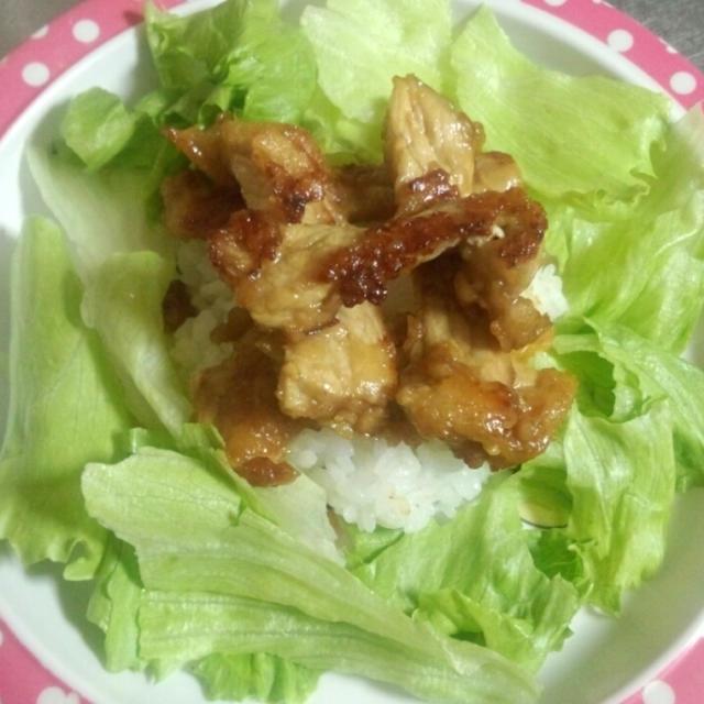 豚レタス丼
