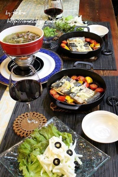 ◆秋刀魚のソテーと砂肝のアヒージョでおうちごはん♪~ゆるやか糖質制限中♪