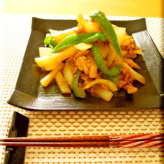 GABAN花椒で下味不要の簡単チンジャオロース風