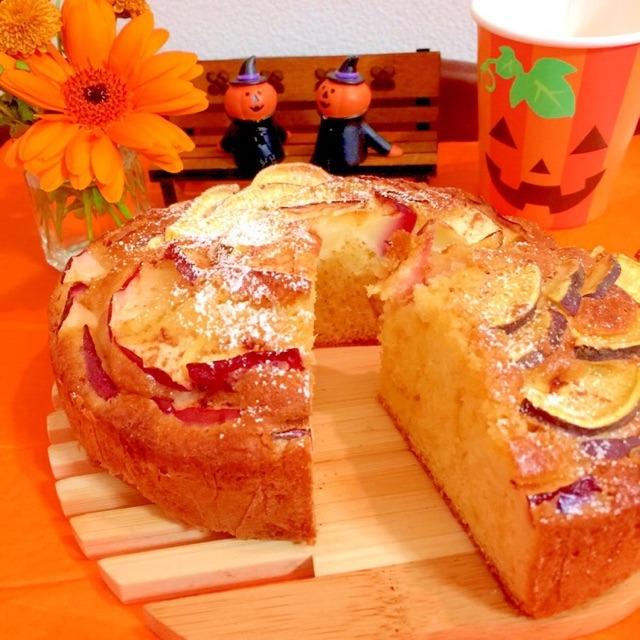 さつまいも&りんごのケーキ