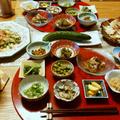 ゴーヤチャンプルと鶏チャーシューとお野菜系小鉢9品で晩酌。