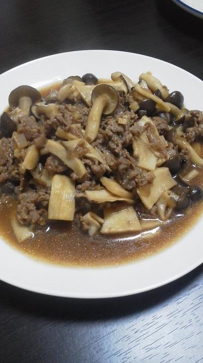 切り落とし牛肉とキノコのオイスター煮~煮込むならやっぱり濃い味~