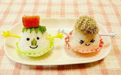 オイル顔おにぎり(*^-^*)/こんにちはお弁当にも朝ごはんにも最適な可愛いオイ...