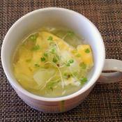 春キャベツとたまごのねぎ塩味スープ