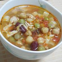 ◇かわいいパスタたっぷりトマトスープ