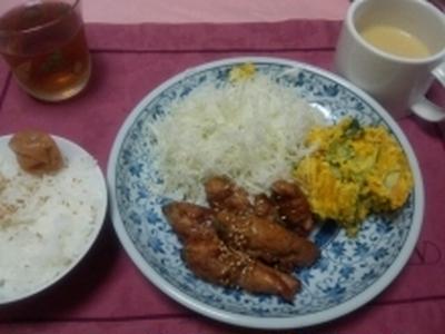 今日の夕飯…