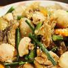 秋鮭腹子と冬瓜/里芋の炊き合わせ