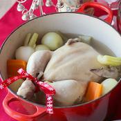 クリスマスの丸鶏ポトフ