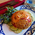 レシピ☆トムヤムペーストで簡単に出来るチャーハン ข้าวผัดต้มยำกุ้ง
