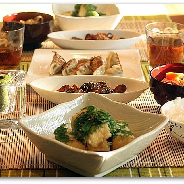 大葉巻き揚げだし豆腐などの和食ゴハン