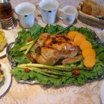 感謝祭♪丸ごとチキンとエイコーンスクワッシュ