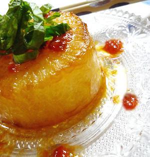 1行レシピ♪大根ステーキ@梅シソ麺つゆ照り焼きソース&コンビニおつまみな昨日・・