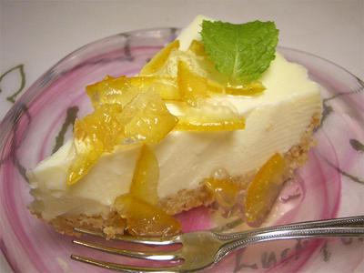 レアチーズケーキマーマレードソース
