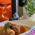 ホッと温まるトマト味ロールキャベツをバレンタインの食卓にいかが・・ごはん入りです。