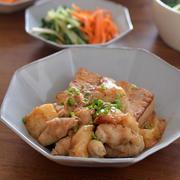 コク旨肉豆腐餅入り、水菜とにんじんの副菜2品のごはんの日。