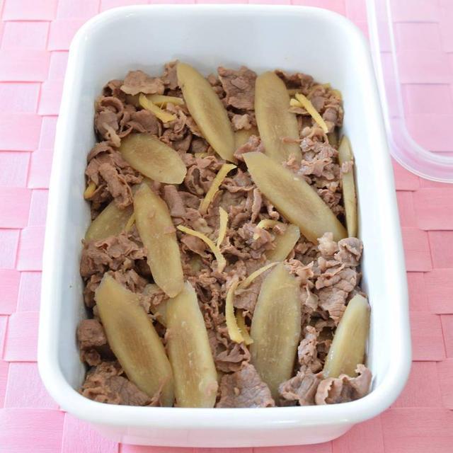 牛肉とごぼうのしぐれ煮(砂糖不使用) 作り置きレシピ