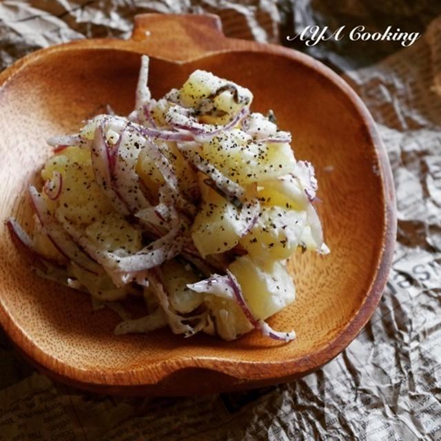 想うこと。クリームチーズと塩昆布のコクうまポテトサラダ