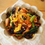 春雨と小松菜のピリ辛オイスター炒め
