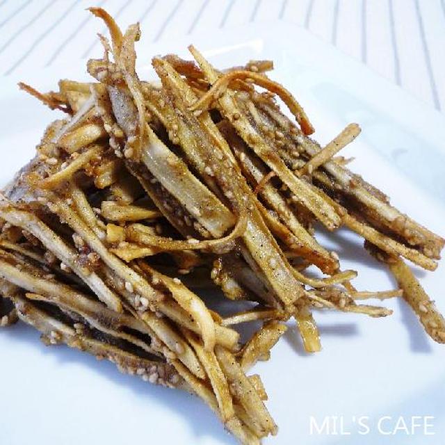 ミルミルの*ごぼうの天ぷら〜粉山椒風味*