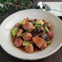 【時短レシピ】豚コマボールと青梗菜の旨煮