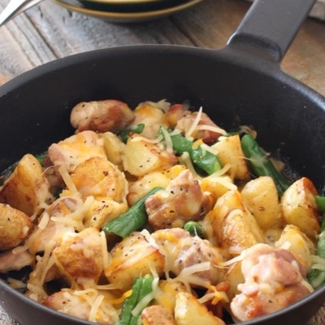 【旬レシピ】新じゃがと鶏肉のチーズ焼き