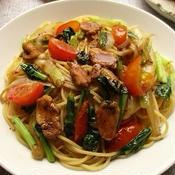 炒め野菜のパスタ