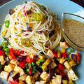 食欲そそるパパッとランチ ガーリック野菜鶏としそ梅冷やしカレーパスタ  by 青山 金魚さん