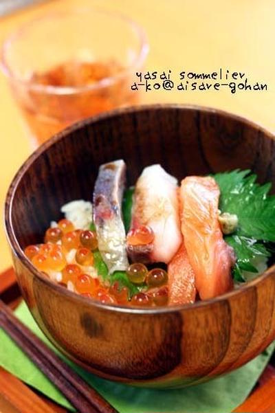 自家製かえし醤油 活用レシピ♪「簡単美味!海鮮丼」