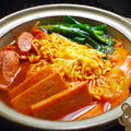お手軽簡単韓国風♪プデチゲ鍋