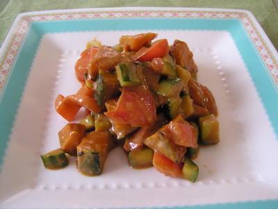 かぼちゃと夏野菜のころころヨーグルトサラダ