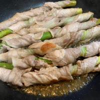 アスパラガスの肉巻きポン酢炒め(福島クッキングアンバサダー:レシピ)