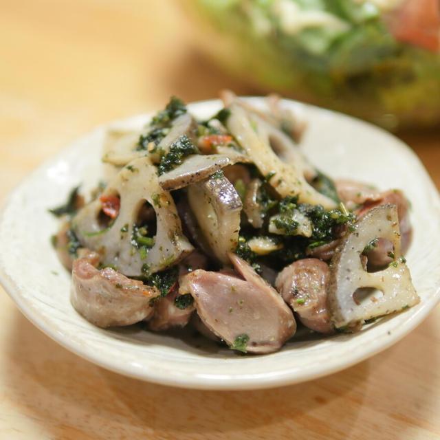 【レシピ】好きなんです砂肝。レンコンと砂肝のピリ辛炒め。コリコリ、病みつき。