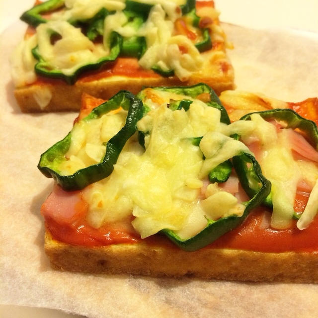トースターで簡単!厚揚げピザ