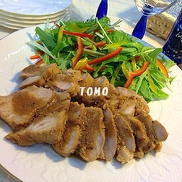 スパークリング清酒「澪」と楽しむパーティーメニュー♪レンジで簡単!にんにく味噌焼豚