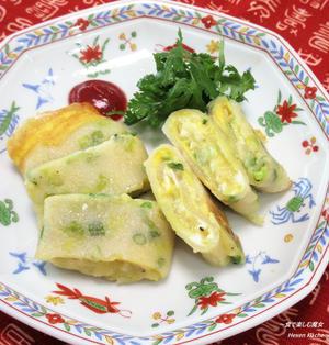 もちもち卵焼き。チーズとろり。『チーズ蛋餅(ちーずダンピン)』台湾。
