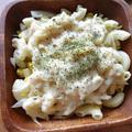 マカロニサラダで豆乳マカロニグラタン