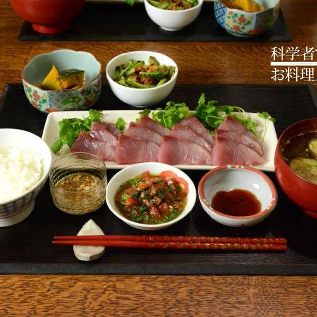 3種タレのお刺身の和食ごはん