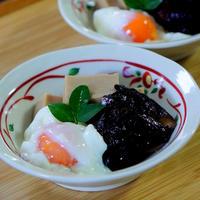 乾しいたけと高野豆腐の含め煮と宮崎の新米♫