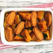 レンジで簡単常備菜レシピ。かぼちゃとさつまあげの煮物(煮つけ)