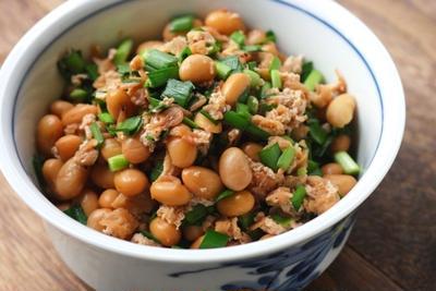 ニラ海老豆。