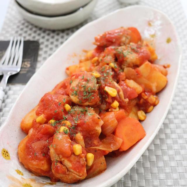チキンとじゃがいものトマト煮☆ &クックパッド様のピックアップレシピに掲載♪
