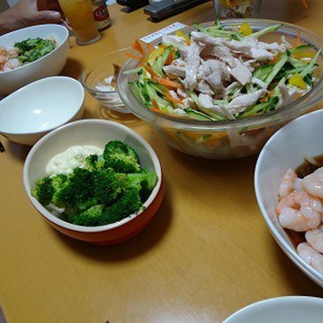 蒸し鶏の和え物@韓国風 あさごはんよるごはん