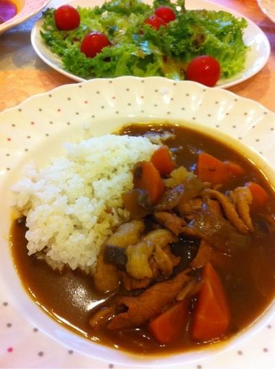 カレーライス☆リンリン豆腐ショット♡