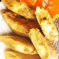 ■簡単5分でスイーツ【作り置きの南瓜餡活用+栗マッシュでチーズin揚げ春巻き】