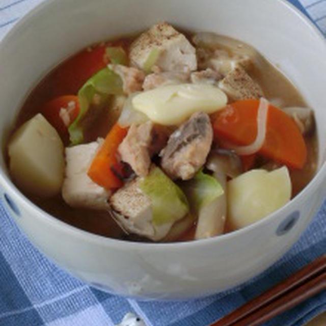 お手軽☆簡単にご当地料理☆石狩鍋風味噌スープ